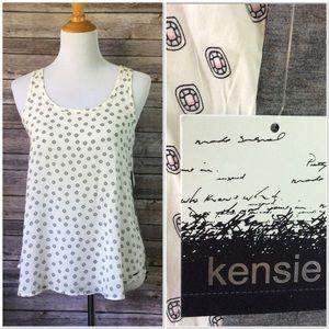 Kensie Rayon Blend Pajama Tank Top Sz S NWT